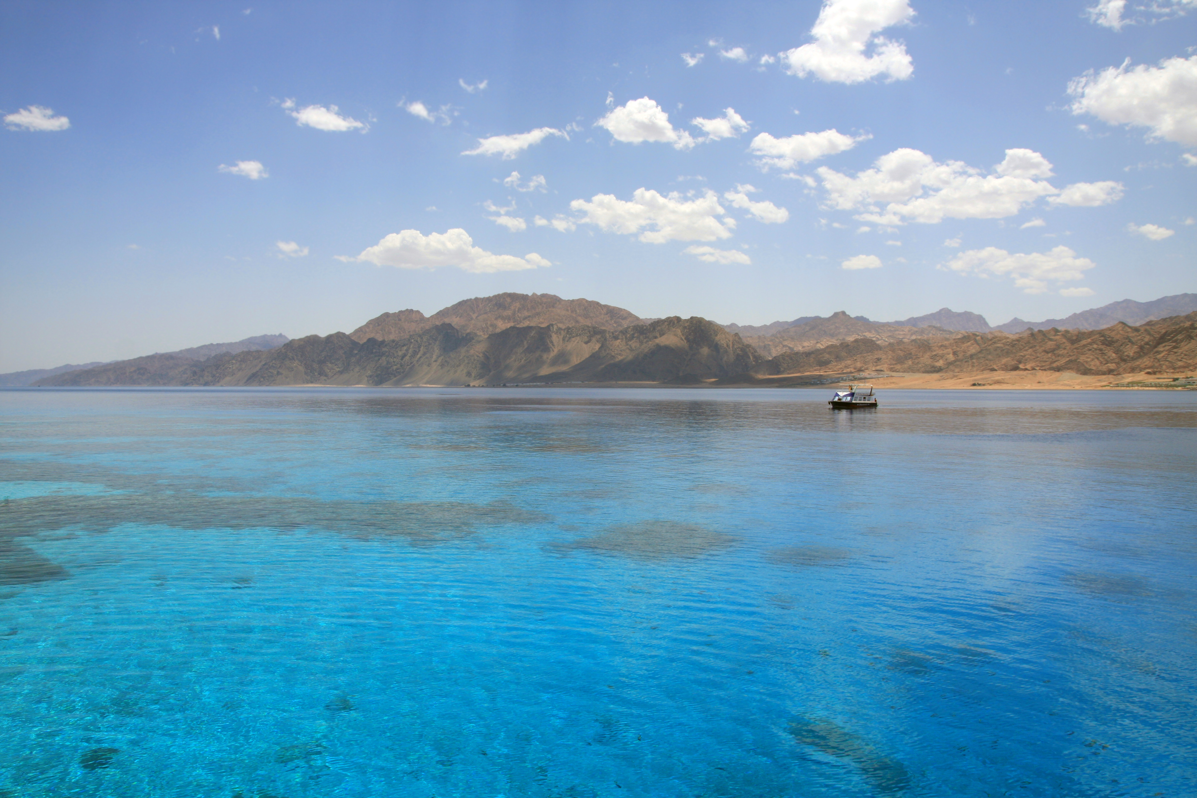 Landscape of Dahab lagoon. Egypt. Red Sea.
