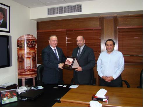 Награждение зам. председателя РИДС Кононенко В.А. памятным знаком  от имени Министерства туризма и древностей Иордании