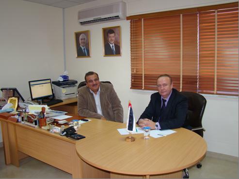 Президент Ассоциации частных лечебных клиник Иордании Авни Аль-Башир  и зам. председателя РИДС Кононенко В.А.