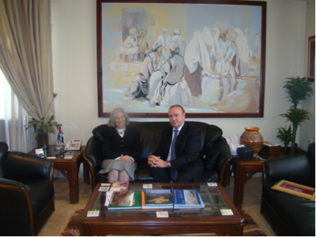 RJBCDeputy Chairman Mr. Valeriy Kononenko and Minister of Tourism and Antiquities of Jordan Dr. Haifa Abu Ghazaleh