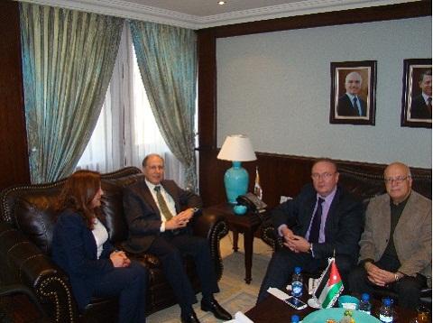 Председатель Промышленной палаты Иордании Зияд Хомси,  зам. председателя, директор РИДС Кононенко В.А.