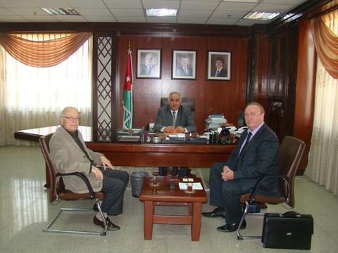 I зам. министра здравоохранения Иордании Дайфаллах Аль-Лоузи,  зам. председателя, директор РИДС Кононенко В.А.