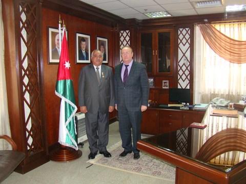 Награждение I зам. министра здравоохранения Иордании Дайфаллаха Аль-Лоузи медалью «За вклад в развитие торгово-экономических и дружественных отношений между Россией и Иорданией»