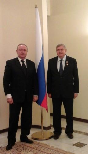 Зам. председателя, директор РИДС В.А. Кононенко, Чрезвычайный и Полномочный посол РФ в Иордании Б.Ф. Болотин