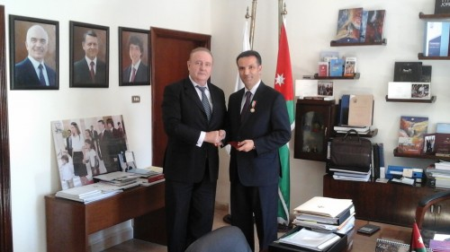 Зам. председателя, директор РИДС В.А. Кононенко, министр туризма и древностей Иордании Найеф Хмейди