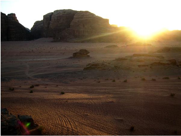 Закат в пустыне Вади-Рам