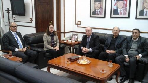 Министр промышленности и торговли Иордании Маха Али, зам. председателя, директор РИДС В.А. Кононенко, сенатор, председатель Амманской Промышленной палаты Иордании Зияд Хомси