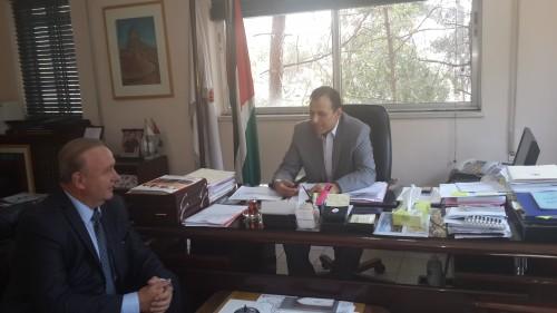 Зам. председателя, директор РИДС В.А. Кононенко, I зам. министра туризма и древностей Иордании Исса Гаммох