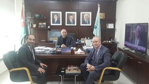 Зам. министра туризма и древностей Иордании господин Абед Арабият (в центре), зам. председателя, директор РИДС В.А. Кононенко (справа)