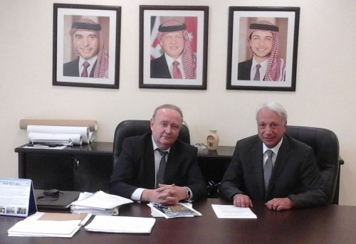Зам. председателя, директор РИДС В.А. Кононенко, I зам. Министра транспорта Иордании Аммар Гхарайбех