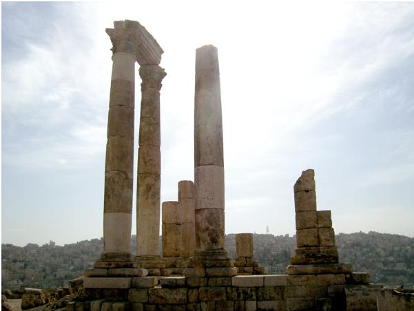 Живописные руины Иордании