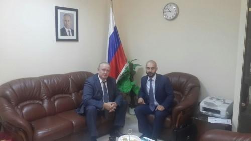 Зам. председателя, директор РИДС В.А. Кононенко, Консул РФ в Иордании М.Г. Сагидов