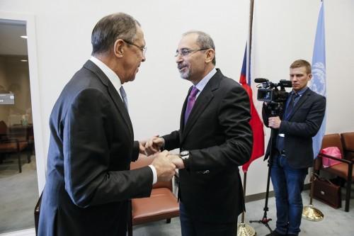 Министр иностранных дел России С.В.Лаврова с Министром иностранных дел Иордании А.Сафади