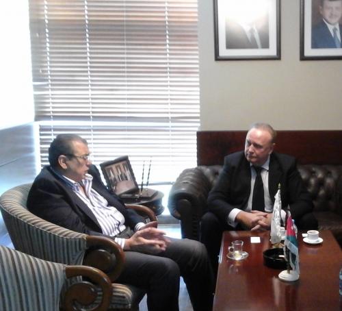 Председатель ТП Иордании Н. Аль-Кабарити, зам. председателя, директор РИДС В.А. Кононенко