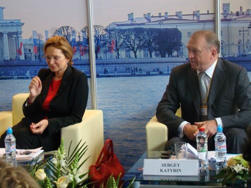 Директор РАДС Т.А. Гвилава, Президент ТПП РФ С.Н. Катырин