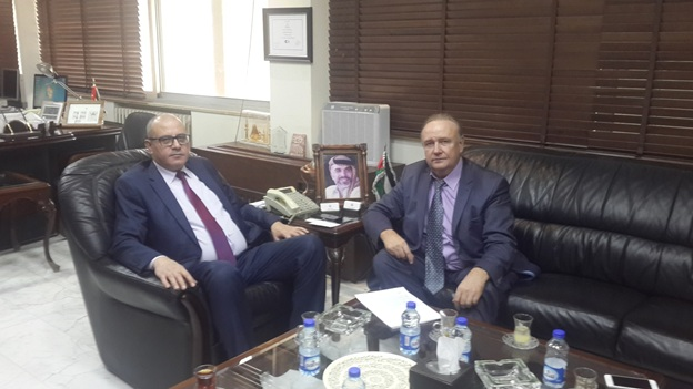 Secretary General of the Jordan Ministry of Industry, Trade and Supply H.E. Mr. Yousef Al-Shamali, the RJBC Deputy Chairman&Director Mr. Kononenko