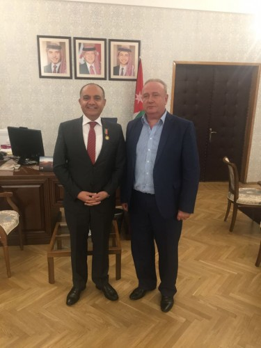 RJBC Deputy Chairman, Director Mr. Kononenko Meets Ambassador Extraordinary and Plenipotentiary of Hashemite Kingdom of Jordan to Russian Federation H.E. Mr. Amjad Adaileh